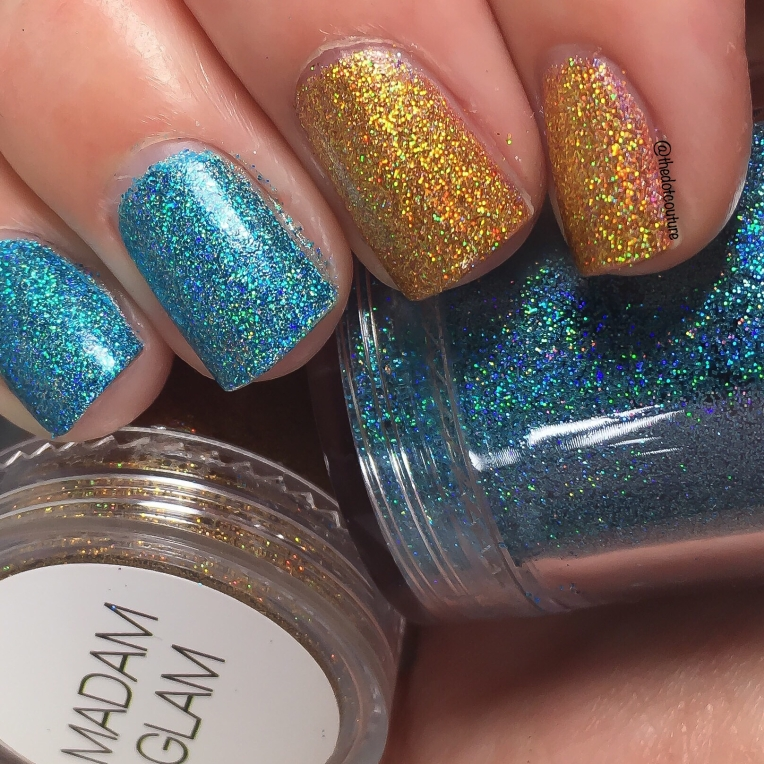 Azure and Gold Loose Glitters